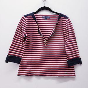 Tommy Hilfiger - 3/4 sleeve zip up shirt